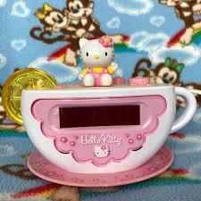 Hello Kitty Digital Am Fm Clock Radio With Night Light Wowow The Cutest Lil Rare Vintage Hello Kitty Depop