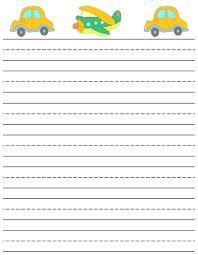 Kindergarten Lined Paper Template Printable Kindergarten Writing Paper Template Living Guide Preschool