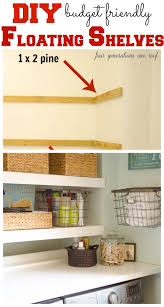Easy To Install Floating Shelves DIY Floating Shelves laundry room Four Generations One Roof 34