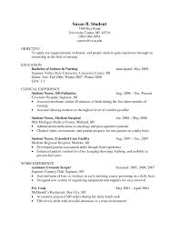Nursing Student Resume Clinical Experience Resume For Nursing