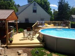 above ground pool decks. Great Backyard Above Ground Pool Ideas 1000 Images About Decks On Pinterest E