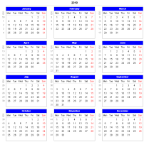 Download Adjustable And Printable Excel Calendar Spreadsheets