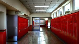 hallway at school. high school hallway by boyiri at a