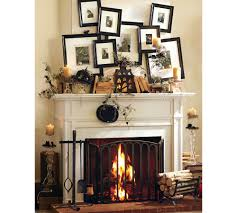 ... Divine Images Of Halloween Mantel Decoration For Your Inspiration :  Appealing Image Of Fireplace Design And ...