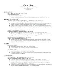 Example Of College Resume For College Application Resume Examples ...
