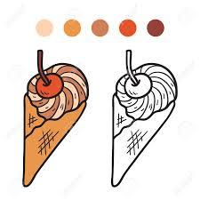 coloring book ice cream stock vector 36010575