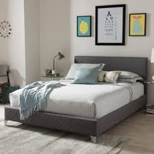 chrome bedroom furniture. Plain Furniture Contemporary Fabric Platform Bed By Baxton Studio With Chrome Bedroom Furniture U
