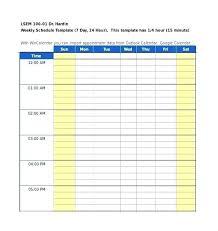 Work Schedule Maker Template