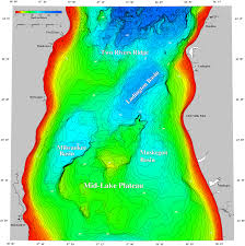 Lake Mi Depth Chart Bathymetry Of Lake Michigan