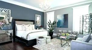 living room with dark grey accent wall