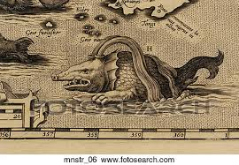 sea monster illustration. Brilliant Sea Antique Sea Monster Illustration Copper Engraving On N