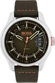 men s hugo boss green nylon band watch 1550016