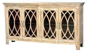 buffet with glass doors. Glass Door Sideboards Rustic Buffet Cabinet Solid Wood Sideboard 4 With Doors U