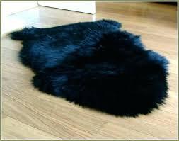 black ikea fur rug