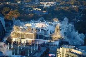 Image result for georgia dome demolition