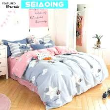 design cute star cloud bedding sets girl cotton cartoon pink grey of comforters be anime my bedding sets