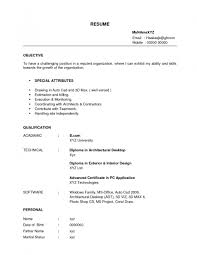 Examples Of Resumes Job Resume Formats Pdf Example Format With