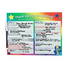 Emergency List Details About Babysitter Check List Safety Emergency Must Have By Kenson Kids