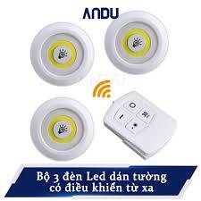 Bộ 3 đèn led dán tường có remote hẹn giờ điều khiển từ xa - Sắp xếp theo  liên quan sản phẩm