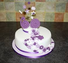Purple Cake For A 60th Birthday Love The Numbers Moms 60th