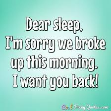 I Want You Back Quotes New Dear Sleep I'm Sorry We Broke Up This Morning I Want You Back