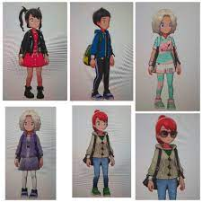 I tried recreating the main characters outfits and hairstyles:  PokemonSwordAndShield
