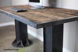 vintage steel furniture. Vintage Industrial I-Beam Desk. Steel \u0026 Reclaimed Wood Top. Urban Furniture