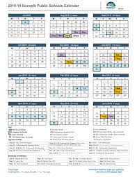 Calnedar District Calendar Norwalk Public Schools