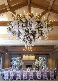 flower chandelier an elegant fl was embellished with lush white and lavender flowers hire melbourne