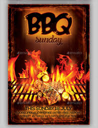 Bbq Fundraiser Flyer Bbq Flyer 20 Download In Vector Eps Psd
