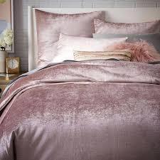 duvet covers and quilts washed cotton er velvet quilt cover pillowcases dusty blush west elm duvet