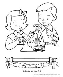 Christmas Decorations Coloring Pages Nativity Scene Coloring Sheet