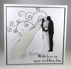 handmade large silhouette wedding card, 3d,brid folksy Bride And Groom Wedding Cards handmade large silhouette wedding card, 3d,bride and groom,personalise bride and groom wedding bands
