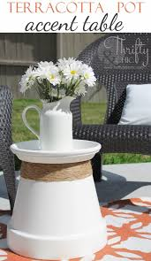 diy porch and patio ideas repurposed terracotta pot into accent table decor projects and