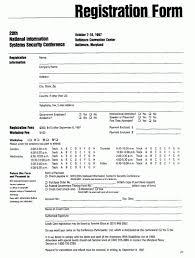 Registration Form Template 2 Registration Form Resume