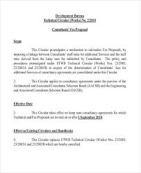 Sample Proposal Letter For Consultancy Services Fee Proposal Templates 11 Free Word Pdf Format Download