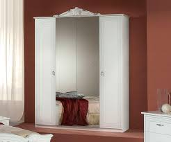 4 Door Cupboard Designs For Bedrooms H2o Design Stella White And Silver Italian 4 Door Wardrobe