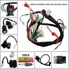 full electrics wiring harness loom coil cdi 200 250 300cc quad full electrics wiring harness loom coil cdi 200 250 300cc quad bike buggy gokart