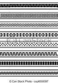 Border Patterns Beauteous Borders A Vector Illustration Of Geometric Border Patterns In Black