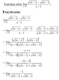 Cara cepat limit bentuk akar rangkap dua tanpa rumus. Limit Fungsi Aljabar Pintar Dengan Matematika