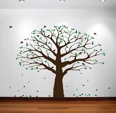 Family Tree Modern Design Us 25 41 15 Off Large Wall Nursery Family Tree Decal Photo Branches Falling Leaves With Birds Wall Poster Removable Art Carving Tree Decal Y 929 In