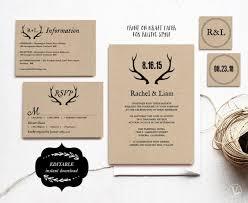 Diy Invitation Template Printable Wedding Invitations Diy Wedding Invitation