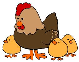 chicken clipart. Interesting Chicken Clip Art Freeuse Hen And Chicks Cartoon Style Big Image Inside Chicken Clipart