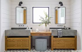 pairing it with a natural wood vanity and thick concrete counter tops makes for cool sophisticated space c11