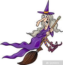 Nálepka Pixerstick Čarodějnice na koštěti kreslené ilustrace • Pixers® •  Žijeme pro změnu