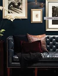 Interior Design For A Living Room How To Decorate A Living Room With A Black Leather Sofa Jewel