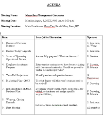 sample agenda meeting agenda sample format for a typical meeting agenda