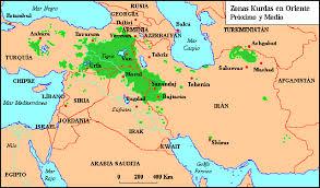Resultado de imagen de kurdistan mapa