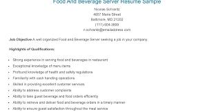 Server Resume Examples Beauteous Resume Samples Food And Beverage Server Resume Sample Food And