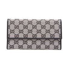 gucci keychain wallet. pre-owned gucci monogram canvas black long wallet keychain